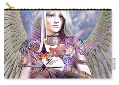 Albino Angel4 Carry-all Pouch by Suzanne Silvir