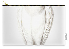 Albino Crow Carry-all Pouch by Nicolas Robert