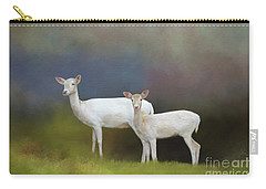 Carry-all Pouch featuring the photograph Albino Deer by Marion Johnson