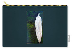Albino Peacock Carry-all Pouch by LaVonne Hand