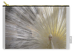 Pure White Peacock Carry-all Pouch