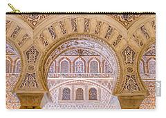 Alcazar Of Seville - Unique Architecture Carry-all Pouch by Andrea Mazzocchetti