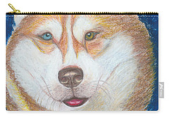Alek The Siberian Husky Carry-all Pouch