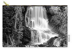 Carry-all Pouch featuring the photograph Alexander Falls - Bw 1 by Stephen Stookey