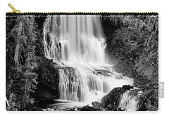 Carry-all Pouch featuring the photograph Alexander Falls - Bw 2 by Stephen Stookey