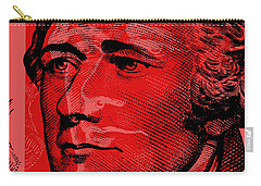 Carry-all Pouch featuring the digital art Alexander Hamilton - $10 Bill by Jean luc Comperat