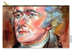 Alexander Hamilton Watercolor Carry-all Pouch