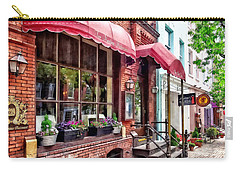 Alexandria Va - Red Awnings On King Street Carry-all Pouch