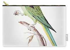 Alexandrine Parakeet Carry-all Pouch by Nicolas Robert