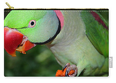 Alexandrine Parrot Feeding Carry-all Pouch