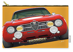 Alfa Romeo Gtam On Yellow Carry-all Pouch