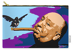 Alfred Hitchcock Carry-all Pouch by John Keaton