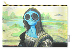 alien Mona Lisa Carry-all Pouch