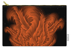 Carry-all Pouch featuring the digital art Alien Plant By Rgiada by Giada Rossi