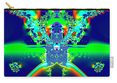 Alien Poodle Fractal 96 Carry-all Pouch