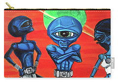 Carry-all Pouch featuring the painting Alien Posse by Similar Alien