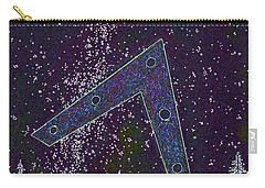 Carry-all Pouch featuring the painting Alien Skies Ufo by James Williamson