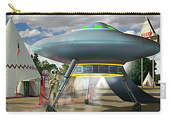 Alien Vacation - Gasoline Stop Carry-all Pouch by Mike McGlothlen