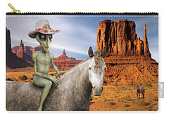 Alien Vacation - Monument Valley Carry-all Pouch by Mike McGlothlen