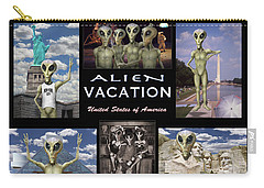 Alien Vacation - Poster Carry-all Pouch by Mike McGlothlen