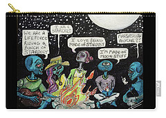 Aliens By The Campfire Carry-all Pouch