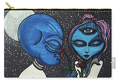 Aliens Love Flowers Carry-all Pouch