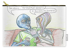 Alien's Rationally Discuss The Existence Of Humans Carry-all Pouch