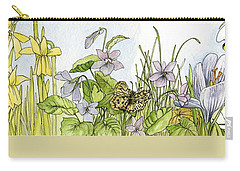 Carry-all Pouch featuring the painting  Alive In A Spring Garden by Laurie Rohner