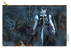Alive Or Undead Carry-all Pouch by Jutta Maria Pusl