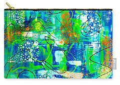 Carry-all Pouch featuring the mixed media All A Whirl by Julie Hoyle