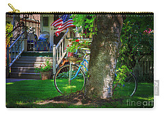 Carry-all Pouch featuring the photograph All American Summer Bicycle by Craig J Satterlee