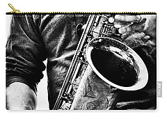 All Blues Man With Jazz On The Side Carry-all Pouch