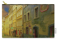 All Downhill From Here - Prague Street Scene Carry-all Pouch