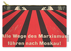 Carry-all Pouch featuring the painting All Marxist Paths Lead To Moscow by Artistic Panda