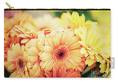 Carry-all Pouch featuring the photograph All The Daisies by Ana V Ramirez