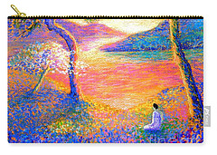 Buddha Meditation, All Things Bright And Beautiful Carry-all Pouch by Jane Small