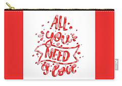 Carry-all Pouch featuring the digital art All You Need Is Love by Edward Fielding