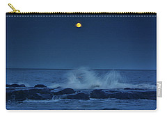 Carry-all Pouch featuring the photograph Allenhurt Beach by Raymond Salani III