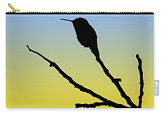 Allen's Hummingbird Silhouette At Sunrise Carry-all Pouch