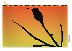 Allen's Hummingbird Silhouette At Sunset Carry-all Pouch