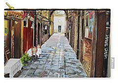Carry-all Pouch featuring the painting Alley On Parangon In Venice by Jan Dappen