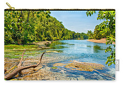 Carry-all Pouch featuring the photograph Alley Springs Scenic Bend by John M Bailey