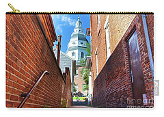 Alley View Of Maryland State House  Carry-all Pouch