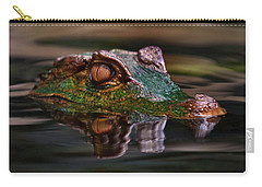 Alligator Above Water Reflection Carry-all Pouch