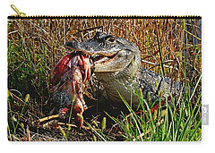Alligator Eating A Fish Carry-all Pouch