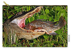 Alligator Eating Fish Carry-all Pouch
