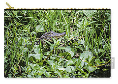 Alligator In Duck Weed, Louisiana Carry-all Pouch