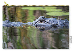 Alligator Swims-2-0599 Carry-all Pouch