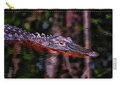 Alligator Waiting 003 Carry-all Pouch