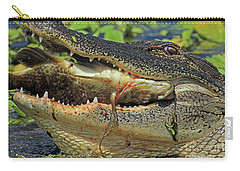 Alligator With Tilapia Carry-all Pouch